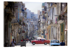 Obraz na szkle akrylowym  In the streets of Havana - Lee Frost