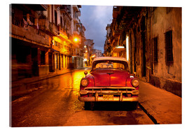 Obraz na szkle akrylowym  Red vintage American car in Havana - Lee Frost