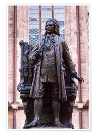 Plakat  Statue of Bach, Leipzig - Michael Snell