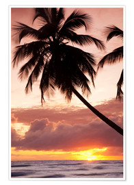 Plakat  Tropical sunset in Barbados, Caribbean - Angelo Cavalli
