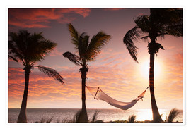 Plakat Hammock on the beach, Florida