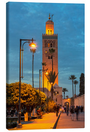 Obraz na płótnie  The Minaret of Koutoubia Mosque illuminated at night, UNESCO World Heritage Site, Marrakech, Morocco - Martin Child