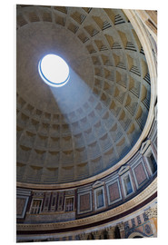 Obraz na PCV  A shaft of light through the dome of the Pantheon, UNESCO World Heritage Site, Rome, Lazio, Italy, E - Martin Child