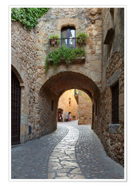 Plakat Alley in Pals, Catalonia