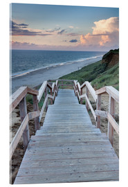 Obraz na szkle akrylowym  Stairs down to the beach, Sylt - Markus Lange
