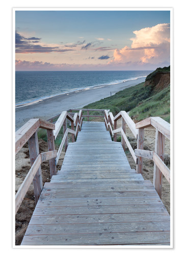 Plakat Stairs down to the beach, Sylt