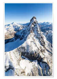Plakat  The unique shape of the Matterhorn - Roberto Sysa Moiola