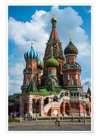 Plakat  St. Basil's Cathedral, Moscow - Michael Runkel