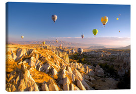 Obraz na płótnie  Hot air balloons over Cappadocia - David Clapp