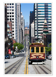 Plakat  Cable car crossing California Street - Gavin Hellier