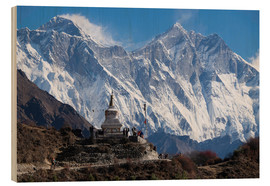 Obraz na drewnie  Tenzing Norgye Stupa & Mount Everest - John Woodworth