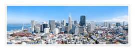 Plakat  San Francisco skyline in summer - Jan Christopher Becke