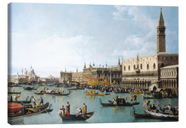 Obraz na płótnie  The harbour of San Marco on Ascension Day - Bernardo Bellotto (Canaletto)