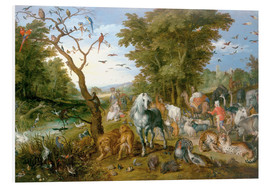 Obraz na PCV  Noah leads the animals into the ark - Jan Brueghel d.Ä.