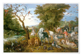 Plakat Noah leads the animals into the ark