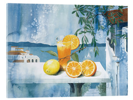 Obraz na szkle akrylowym  Glass with oranges - Franz Heigl