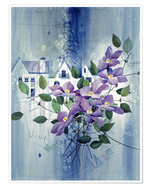 Plakat View with clematis