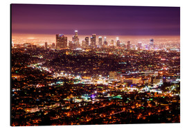 Obraz na aluminium  Los Angeles at night - Daniel Heine
