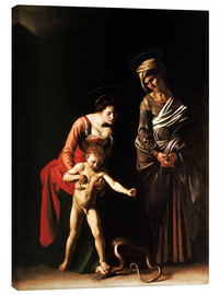 Obraz na płótnie  Madonna with the Serpent - Michelangelo Merisi (Caravaggio)