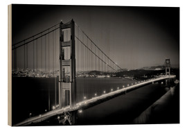 Obraz na drewnie  Golden Gate Bridge in the Evening - Melanie Viola