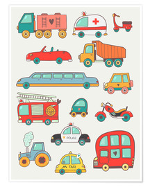 Plakat  So many cars - Petit Griffin
