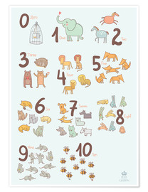 Plakat  Number of animals - Petit Griffin