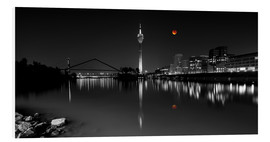 Obraz na PCV  Dusseldorf media harbor with Blutmond - rclassen