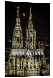 Obraz na PCV  Blood moon shines over Cologne Cathedral - rclassen