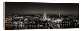 Obraz na drewnie  Panorama of the Cologne skyline, Germany - rclassen