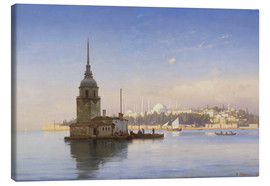 Obraz na płótnie  The Maiden's Tower (Maiden Tower) with Istanbul in the background - Carl Neumann
