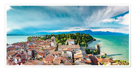 Plakat Sirmione in Italy, with Lake Garda