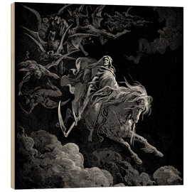 Obraz na drewnie  Death on a pale horse - Gustave Doré