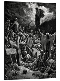 Obraz na aluminium  The Vision of the Valley of the dry Bones - Gustave Doré