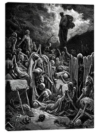 Obraz na płótnie  The Vision of the Valley of the dry Bones - Gustave Doré