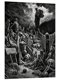 Obraz na PCV  The Vision of the Valley of the dry Bones - Gustave Doré