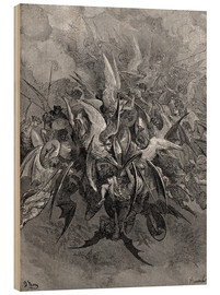 Obraz na drewnie  War in Heaven - Gustave Doré
