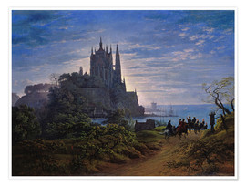 Plakat Gothic church on a cliff by the sea