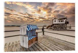 Obraz na szkle akrylowym  In the morning the North Sea beach of Sankt Peter Ording - Dennis Stracke