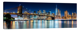 Obraz na płótnie  New York City Skyline with Brooklyn Bridge (panoramic view) - Sascha Kilmer