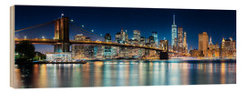 Obraz na drewnie  New York City Skyline with Brooklyn Bridge (panoramic view) - Sascha Kilmer
