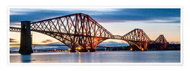 Plakat Forth Bridge, Edinburgh, Scotland