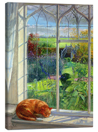 Obraz na płótnie  Cat in the window in summer - Timothy Easton