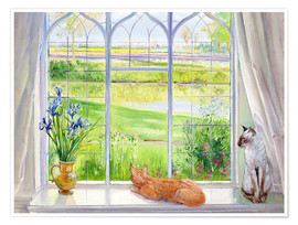 Plakat  Cats at the window - Timothy Easton
