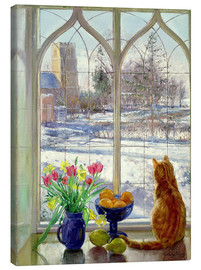 Obraz na płótnie  Snow Shadows and Cat - Timothy Easton