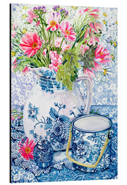Obraz na aluminium  Gerberas in a porcelain pot with other vessels - Joan Thewsey