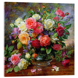 Obraz na szkle akrylowym  Roses - the perfection of summer - Albert Williams