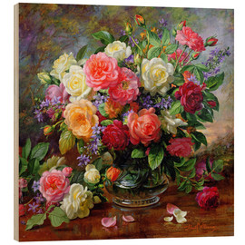 Obraz na drewnie  Roses - the perfection of summer - Albert Williams