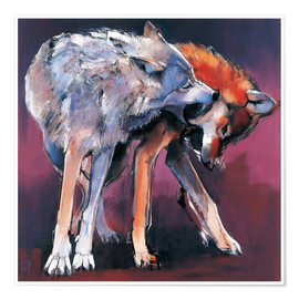 Plakat Two Wolves