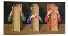 Obraz na drewnie  Three Wise Books, 2005 - Jonathan Wolstenholme