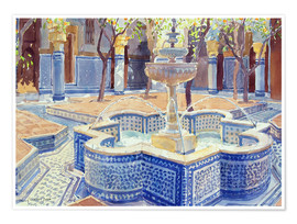 Plakat  The blue fountain - Lucy Willis